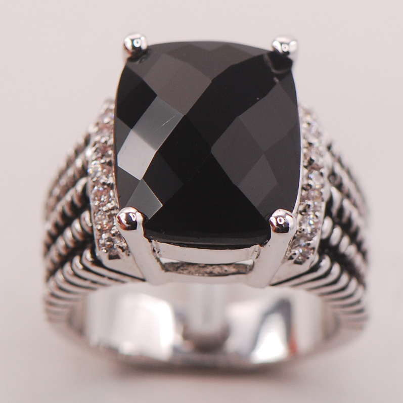 Black Onyx Women 925 Sterling Silver Ring F777 Size 6 7 8 9 10 fiorangelo полусапоги и высокие ботинки