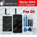 Meizu mx4 pantalla lcd de pantalla táctil + herramientas reemplazo de alta calidad de accesorios para el teléfono móvil + envío libre