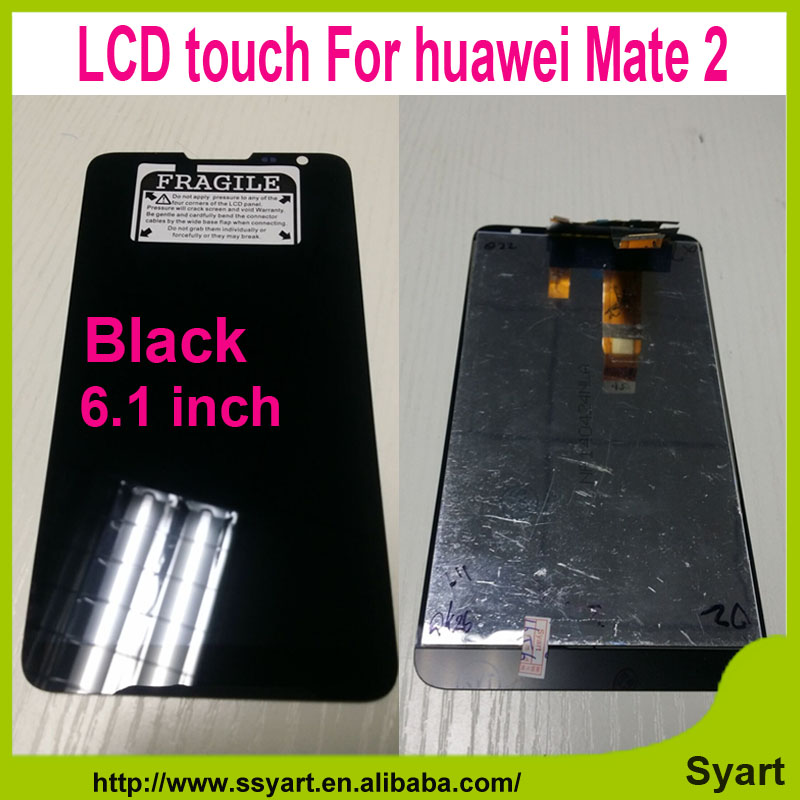 6.1 inch Black and White LCD Display Touch Screen+Digitizer Glass Assembly with Free Tool For Huawei Ascend Mate 2