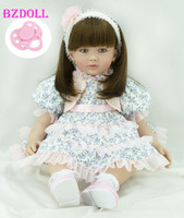 Silicone Vinyl Reborn Toddler Baby Doll Toy 24 inch Princess Girl