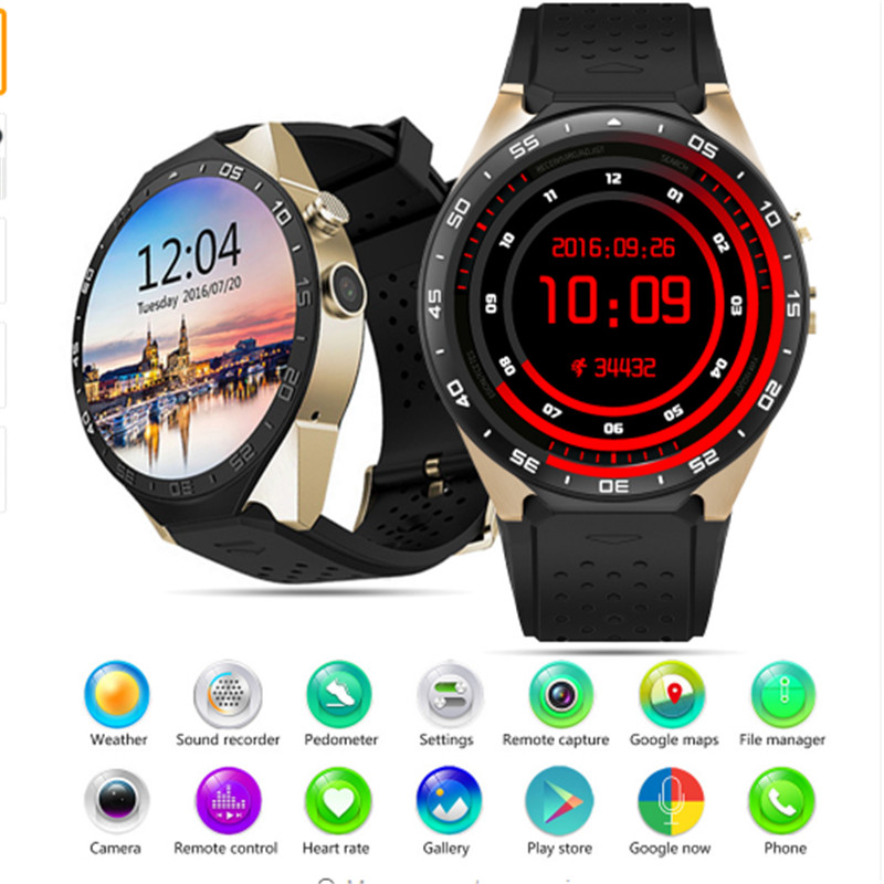 KW88 Smart Watch 3G 4GB ROM WIFI 1.39 Bluetooth Smart Watch Phone Android 5.1 SIM Card Camera Heart Rate Monitor GPS Watch potino d7 smart watch android 4 4 sim bluetooth 4 0 smartwatch 500mah gps wifi 3g heart rate monitor smart wearable devices