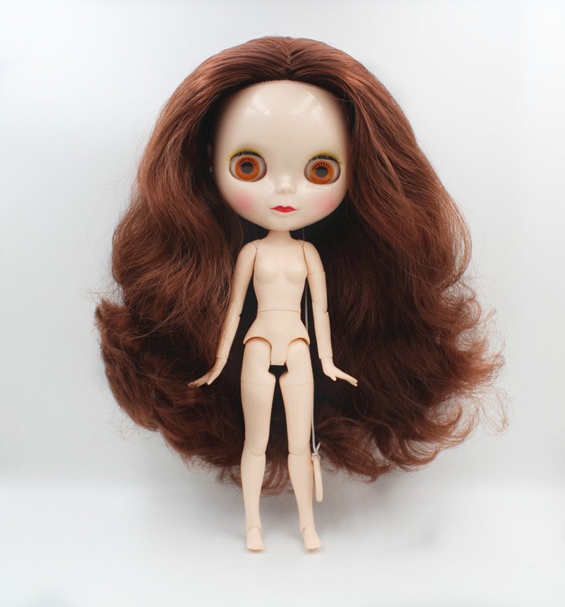 Blygirl Blyth dolls brown copper curls new dolls with 19 and 7 joints normal face shells 1 6 dolls nude dolls in Dolls from Toys Hobbies