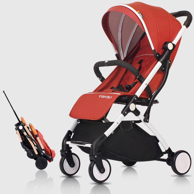 купить Baby carriage 2018 New Style baby stroller light folding umbrella car can sit can lie ultra-light portable on the airpl 2b1 по цене 4147.64 рублей