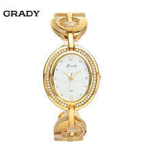 Женские часы дворянство моды небольшой свежий водонепроницаемый бриллиантовый браслет стол моды для Женщин кварцевые часы бесплатная доставка