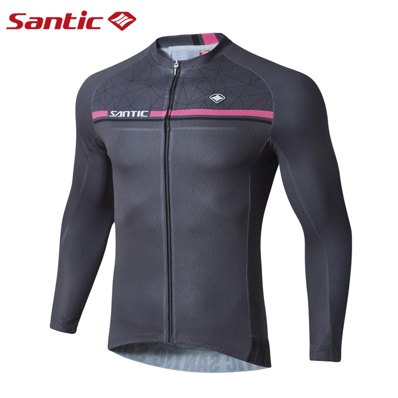 SANTIC Men Long Sleeve Cycling Jerseys Pro MTB Road Bike Clothing Quick Dry Breathable Spring Racing Bicycle Wear Top Jerseys 2016 couple long sleeve bike riding jerseys sets quick dry gel breathable pad stretchable 3d cutting cycling clothing equipment