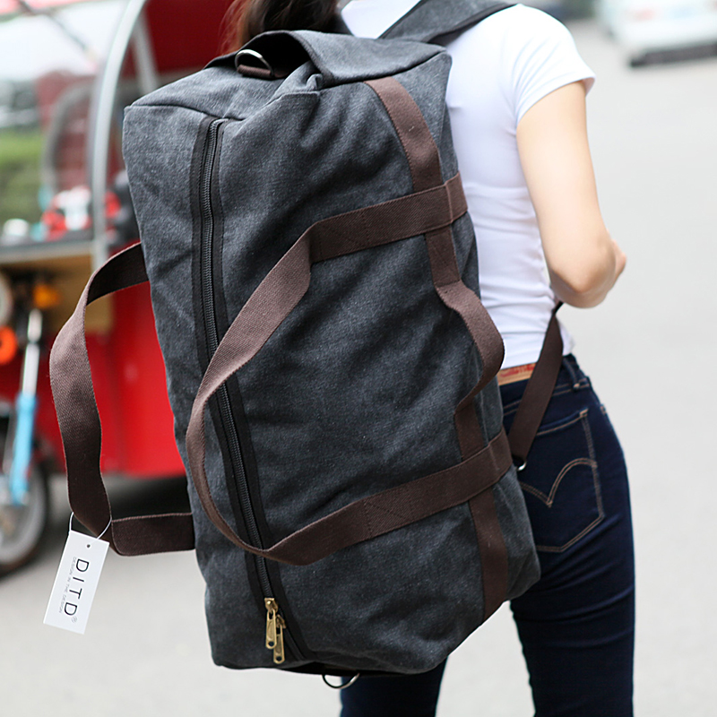 New Canvas Men Travel Bag Large Capacity Women Hand Luggage Travel Duffle Bag Weekend Bags Multifunctional Reistas Shoulder Bag 2