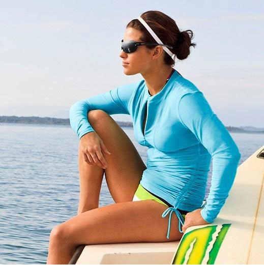 SBART K Berlaku Berenang Kemeja Lycra Lengan Panjang Surf Kemeja Ruam Penjaga Atas Selancar Angin Anti UV Kemeja Spearfishing Surfing Baju Renang