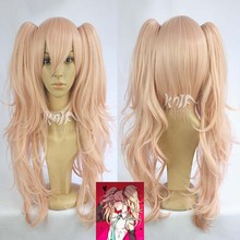 New Pink  Wig Pretty Lolita Wig Gothic Lolita Pink Wig Ponytails Princess Cosplay Long Wavy Party Wig