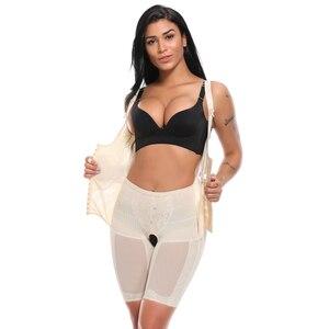 Image 4 - Modelador de corpo inteiro feminino cintura cincher underbust espartilho cintura ajustável trainer firm bodysuits pós parto shapewear mais tamanho