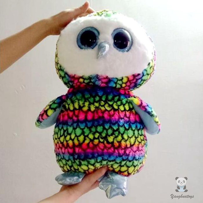 Classic Colorful Owl Doll Toys Pillow TY Stuffed Animals  Gifts Men And Women  Large Dolls Toy 45cm plush animals black footed ferret doll stuffed children s toys simulation animal dolls rare gifts