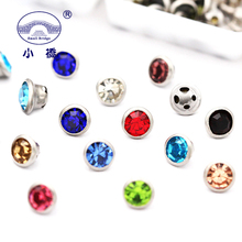 200PCS Mixed Color Rhinestones For Clothing Diy Crafts Glass Round Edging Rhinestone Decorative Crystal Sew On S151