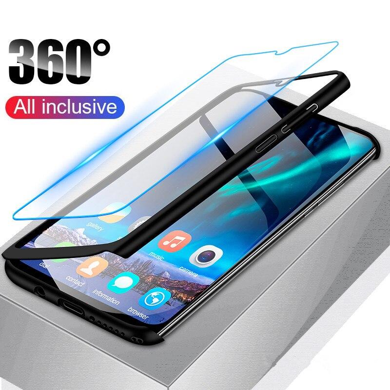 360 degrés Plein Corps Housse pour Huawei Y9 2019 Y7 Y6 Prime Pro 2018 Y5 2017 Nova 4 4e 3 3i 3e 2 2S 2i Lite Plus Housse