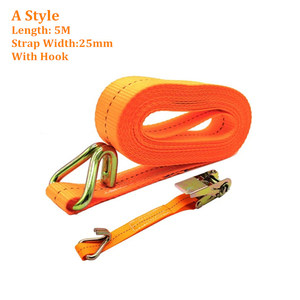 Image 5 - ALWAYSME 5M Length Heavy Duty 800KGS Tension Strength Ratchet Straps Tie Down Strap For Car Motorcycle Cargo Trailer Truck
