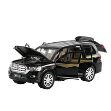 Car Models 1:24 LAND CRUISER SUV Vehicles Alloy Car Toys For Children Model Simulation Diecast Pull Back Sound Light(China)
