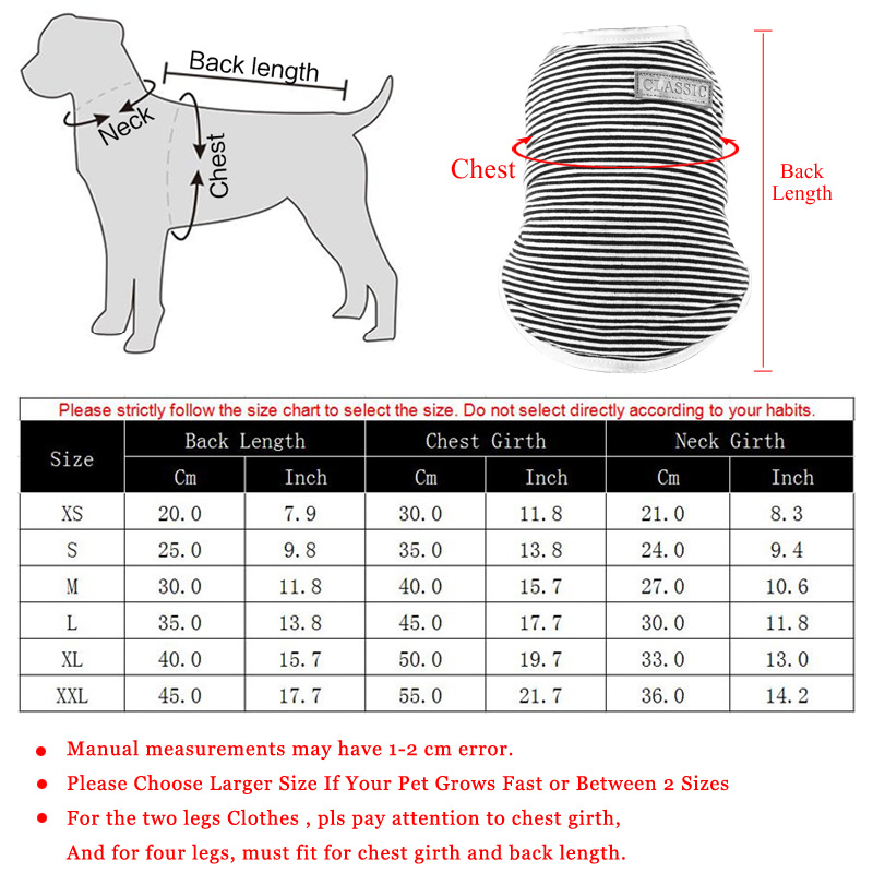 Pets Dog Clothing Spring/Summer Pet Cat Clothes for Cats Kitty Kitten Classic Striped Vest T-shirt Fashion Cotton Cats Shirts 3