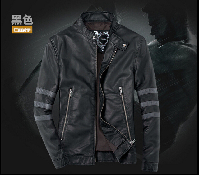 Free shipping THOOO New HOT Wolverin e Black pu leather classic fashion Slim Coat Motorcycle jacket szie S M L XL 2XL 3XL 4XL