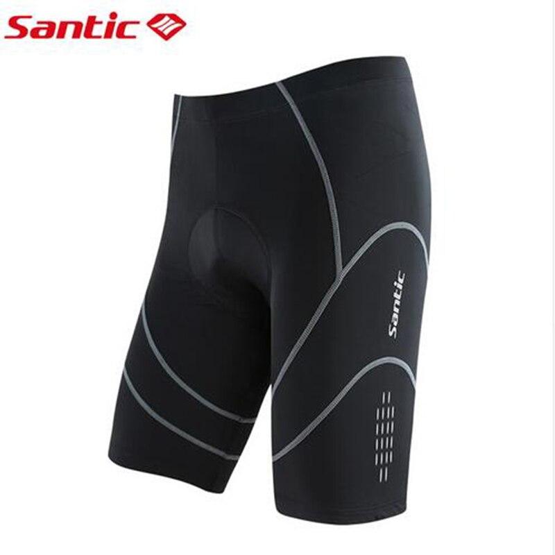 Santic Coolmax Pantalones 4D Filling Cortos de Ciclismo MTB Road Padded Bike Shorts Anti sudor Quick Dry UV Protection SK0003|padded bike shorts|bike shorts|pads bike - title=