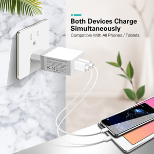 Image 4 - FONKEN Dual USB Charger 28W Quick Charge 3.0 QC3.0 Fast Phone Charger 2 Port Portable Wall Charger Adapter Android Mobile Tablet