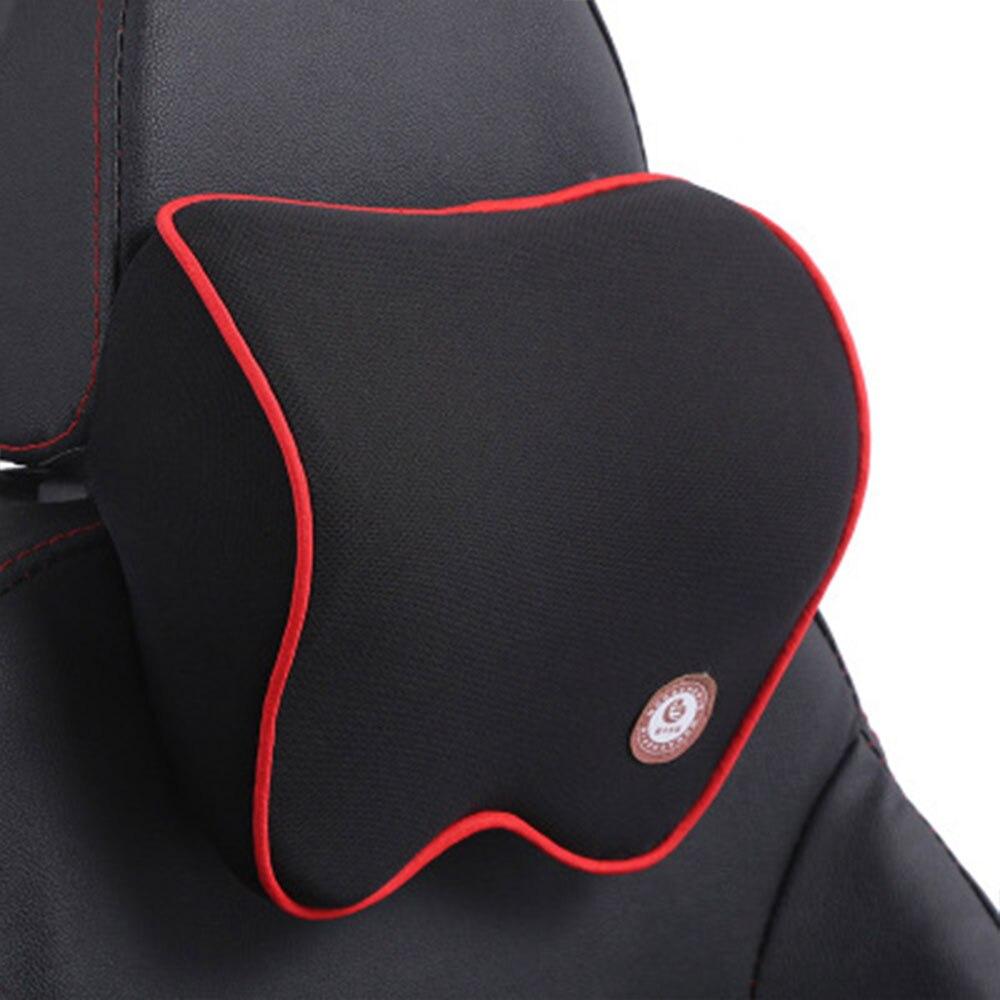 Vehemo автомобильные подушки для шеи подголовник автомобиля дышащие удобные сиденья Шейная поддержка шеи Подушка четыре сезона - Название цвета: black red