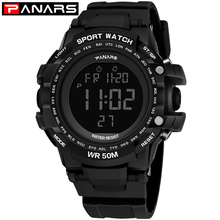 PANARS Big Wrist Watch Men Electronic Sports Digital Watch For Man Clock Alarm Shockproof Waterproof Backlight Stopwatch LED Hot