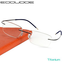 Titanium Glasses Frame Men Rimless Prescription Eyeglasses Women Myopia Optical Frames Ultralight Korean Screwless Eyewear screwless eyewear prescription eyeglasses women ultralight 2019 round myopia optical denmark korean glasses frame men titanium