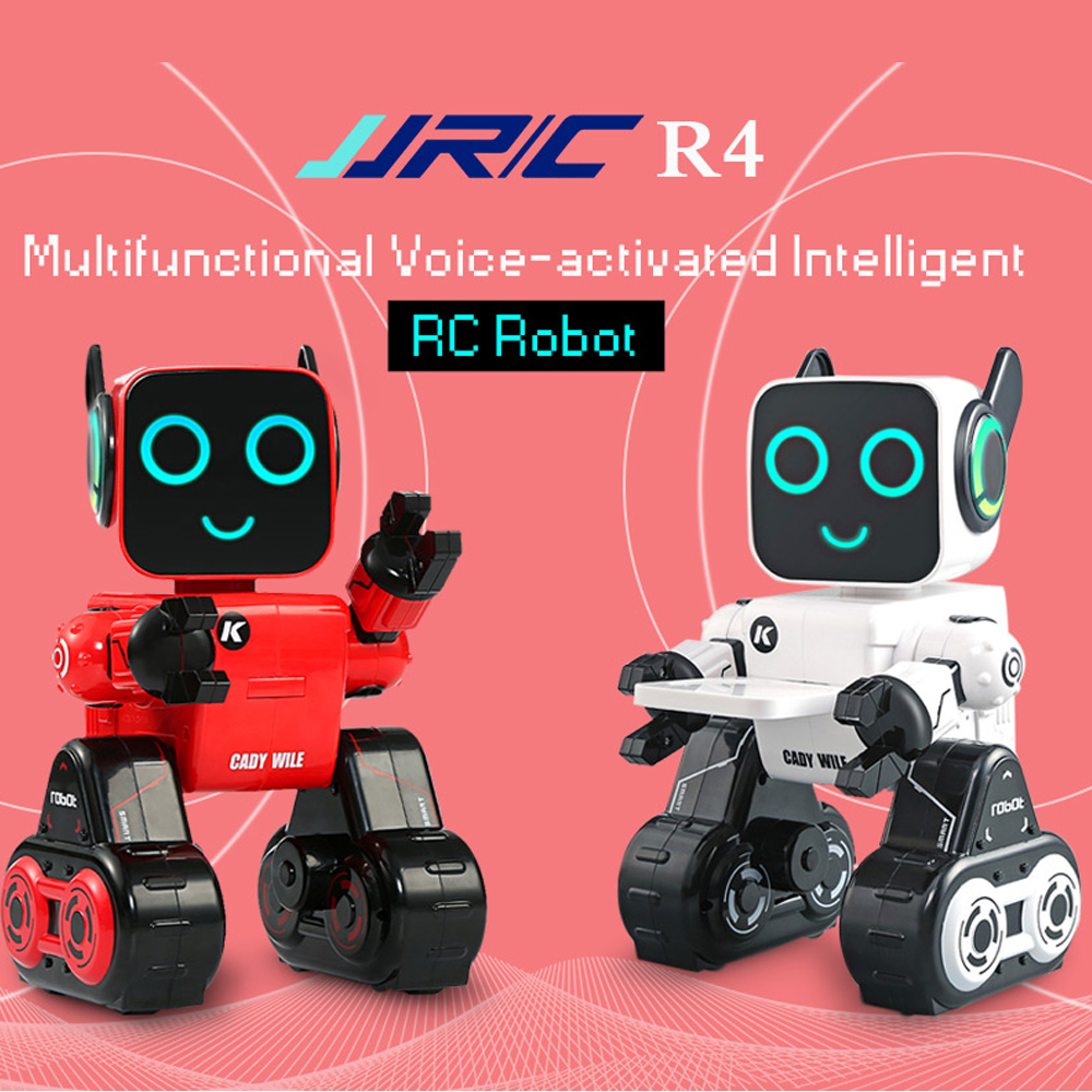2018 JJRC R4 RC Robot Toy Voice-Activated Intelligent RC Robot Magic Sound Interaction RC Robots VS JJRC R2 R3 Action Figure jjrc rc robot kids toy 2 4g intelligent programming gesture sensor singing dancing display candy action figure robots toy
