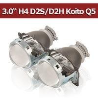 H4 Projector Lens 3 Inches Q5 Koito Bi Xenon HID Bi Xenon Projector Lens Quick Install
