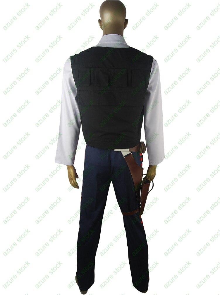 7c45682c83 Gwiezdne wojny Han Solo kostium ESB Cosplay kostium na Halloween boże  narodzenie prezent futerał na pasek Droid dla dorosłych party make up  kostium ...