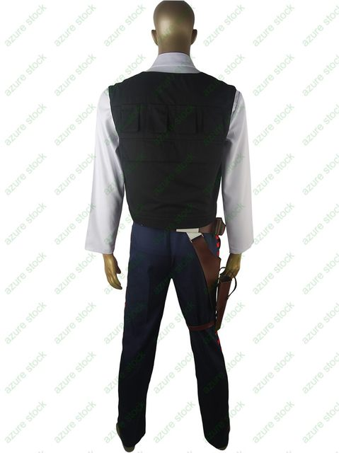Star Wars Han Solo costume ESB Cosplay Halloween Costume xmas gift Belt Holster Droid for adults party make-up costume man gift  sc 1 st  Aliexpress & Online Shop Star Wars Han Solo costume ESB Cosplay Halloween Costume ...