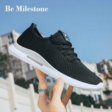 Модная трендовая модель 2019 года; сезон весна-лето; мужская повседневная обувь; Легкая удобная дышащая Спортивная обувь; кроссовки черного цвета