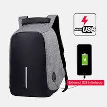 2019 Brand Laptop Backpack USB Charging Anti Theft Travel Multifunction Waterproof School Bag Male Mochila Notebook