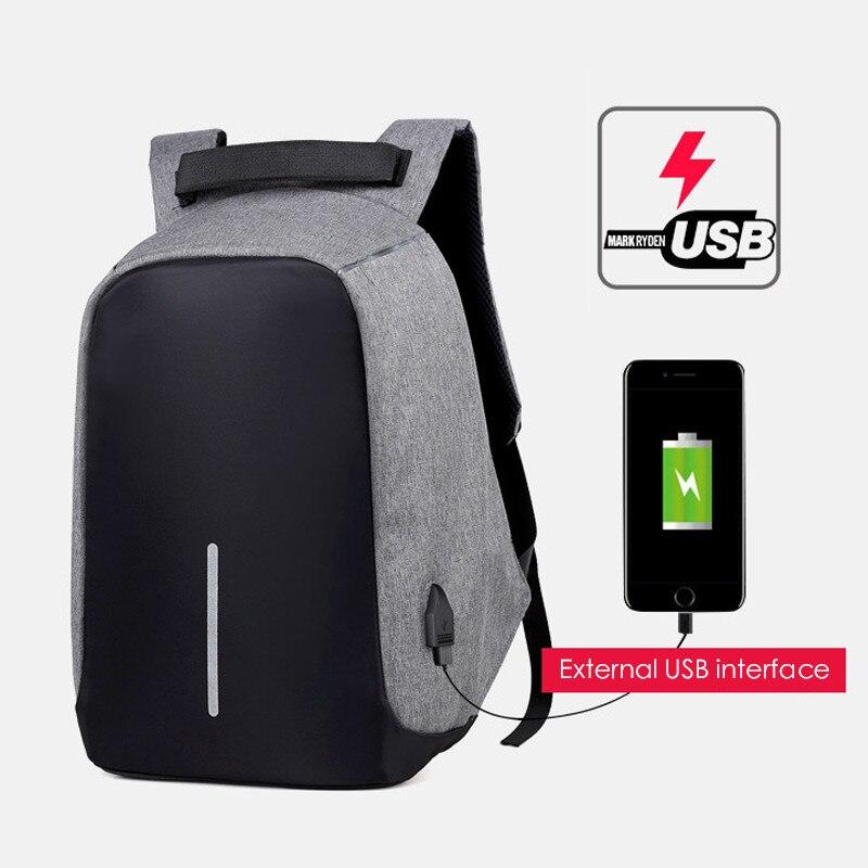 2019 Marca Mochila Laptop de Carregamento USB Anti Roubo Mochila de Viagem Multifuncional Saco de Escola Masculino Mochila Notebook À Prova D' Água