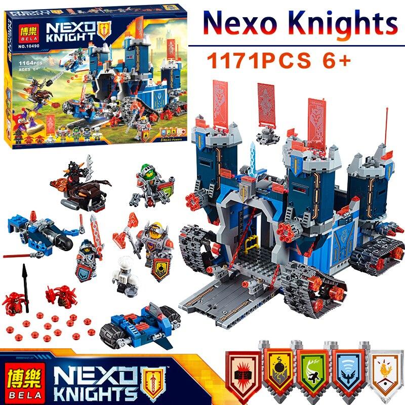 2017 Nexus Рыцари Fortrex Замок Модели Building Blocks NEXO фигурку 70317 14006 Образования DIY игрушки для детей