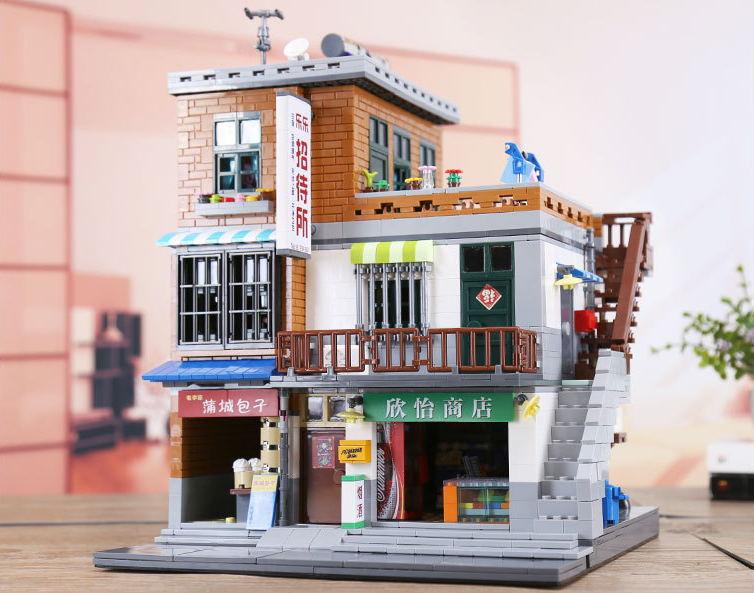 XingBao 01013 2706 pcs Genuine Creative MOC City Series The Urban Village Set Building Blocks Bricks Educational Toys Model Gift плоская кисть kraftool klassik 1 01013 25