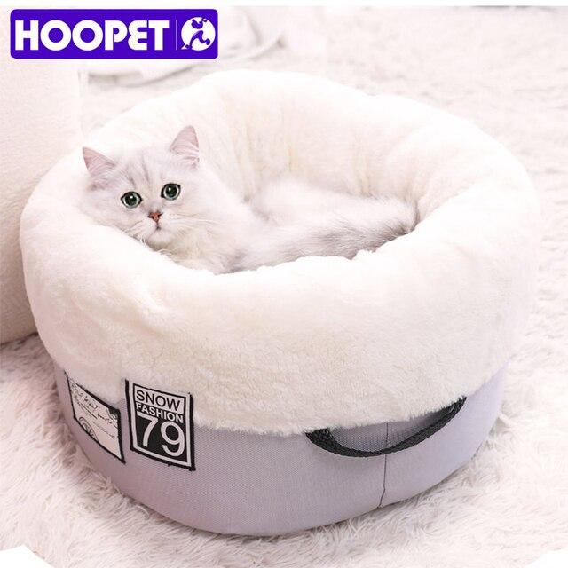 HOOPET Gatto Panca Letto per Gatti Materiale Morbido Casa per il Gatto Nido Cald