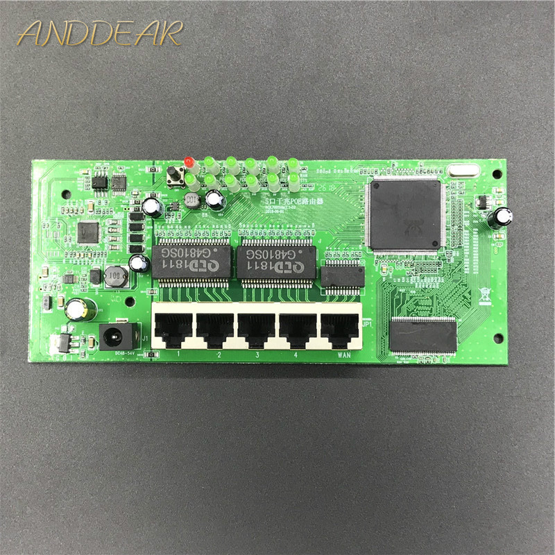 Poe-Router-Module Full-Gigabit OEM 4 Wired 10/100/1000m 5-Port Sell-5 48V2A Manufacturer