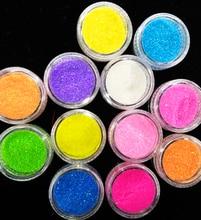 Hot Sale !Glitter Powder 12 Bottle/Set Nail Art Dust Powder Fashion 12 Colors Nail Art Glitter Dust Powder For UV GEL Acrylic