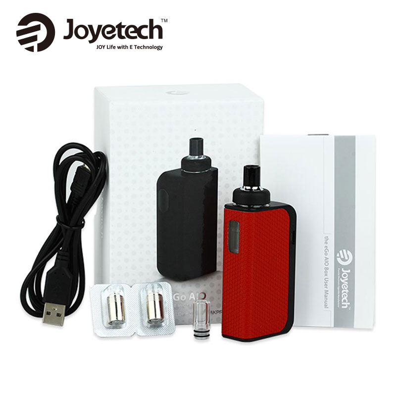 100% Originale Joyetech EGO AIO Box Kit 2 ml Atomizzatore Capacità BF SS316 Coil e 2100 mAh batteria Incorporata joyetech AIO Kit