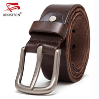 DINISITON Genuine Leather Belt Top Layer Belts For Men Vintage The First Waistband Strap High Quality