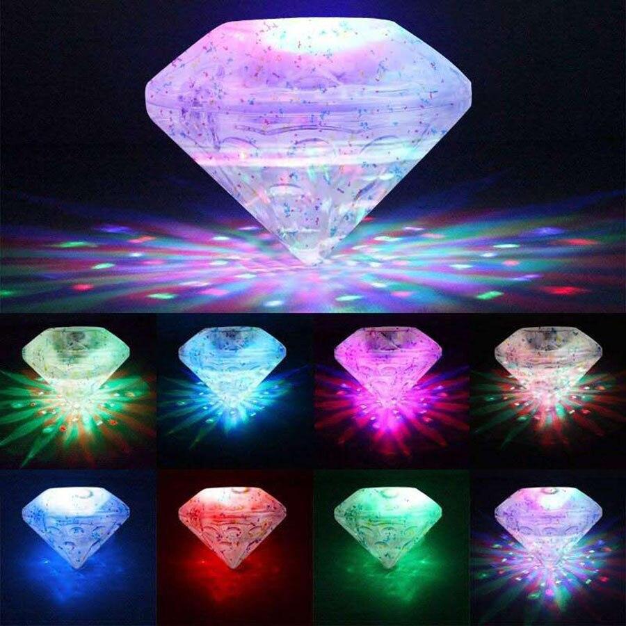RGB צף צוללת מתחת למים אור זוהר להראות שחייה בריכת ספא מנורת גן בחוץ מסיבת דיסק קישוט אור