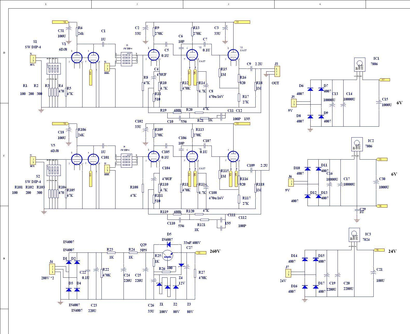 MM-MC-Phono-Amplifier-Bare-PCB-Circuit-Base-On-Marantz-7 What And Tube Wiring Means on tube dimensions, tube fuses, tube terminals, tube assembly,