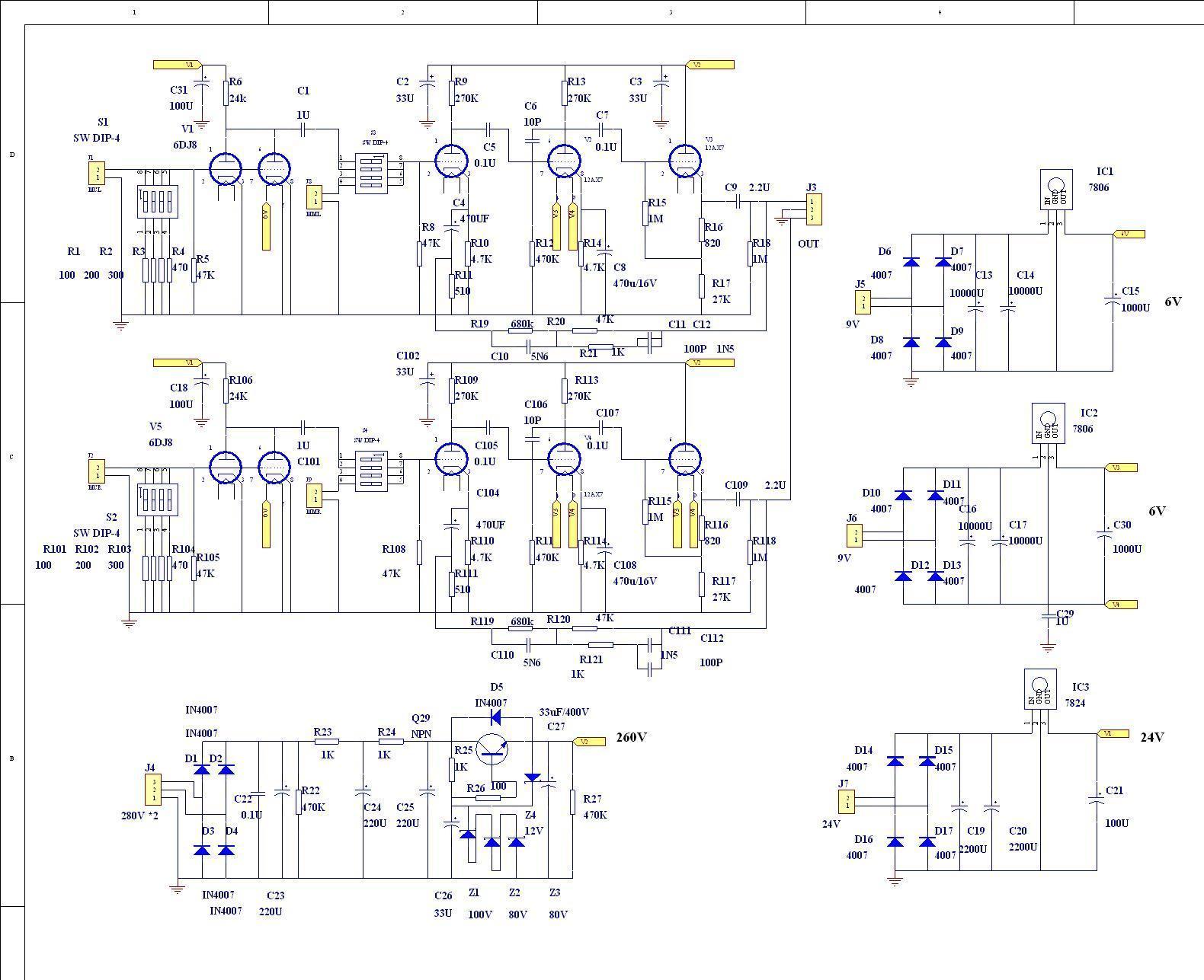 mm mc phono amplifier bare pcb circuit base on marantz 7 in amplifier from [ 1580 x 1287 Pixel ]