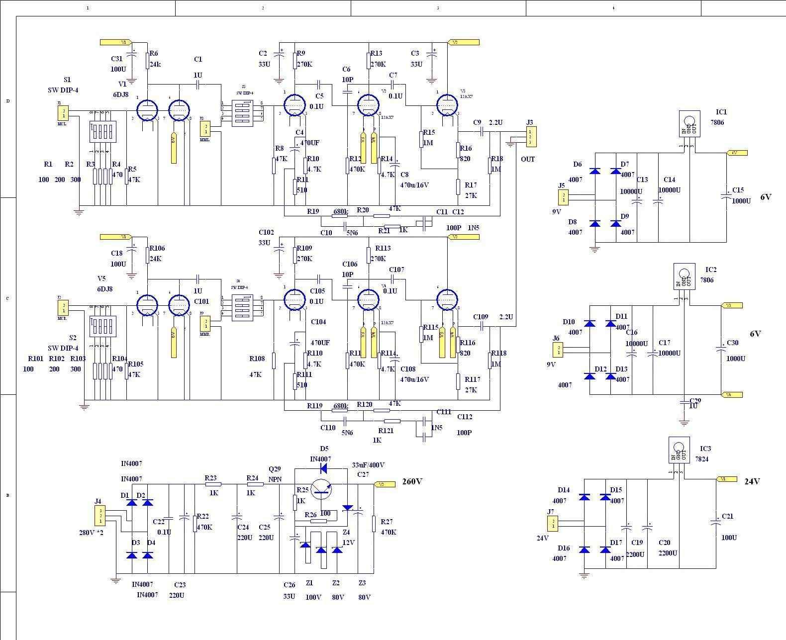 MM/MC Phono Amplifier Bare PCB Circuit Base On Marantz 7