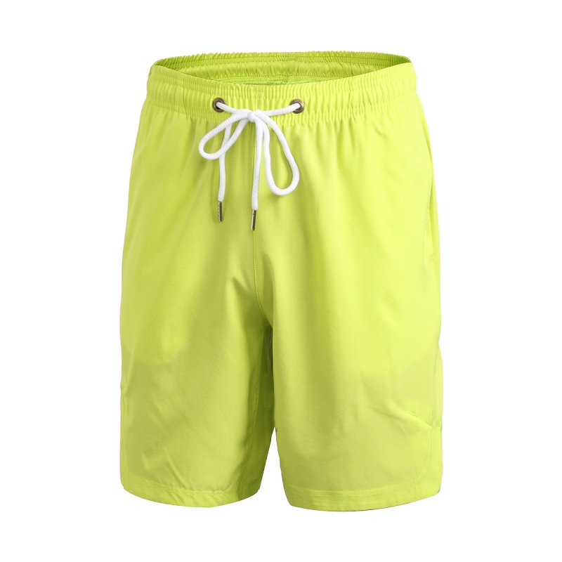 Men s Quick dry Fitness Drawstring Solid Workout Casual Shorts