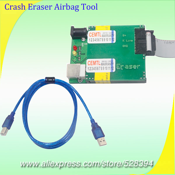 Deleting faults in Airbag crash controllers through diagnostic plug OBD2 Crash Eraser Airbag Reset Tool DHL