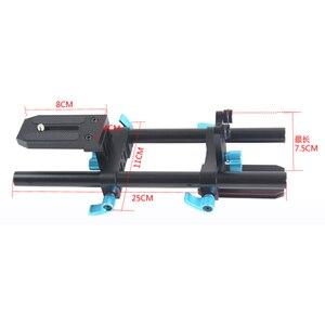 """Image 5 - 15mm trilho haste de apoio sistema vídeo estabilizador pista slider baseplate 1/4 """"parafuso liberação rápida para canon nikon sony dslr câmera"""