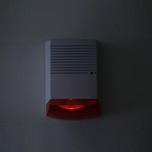 Image 4 - Fack sirena estroboscópica de alarma para exteriores, resistente al agua, con Flash rojo luz infrarroja, Led, alerta de seguridad para el hogar, sistema de alarma antirrobo