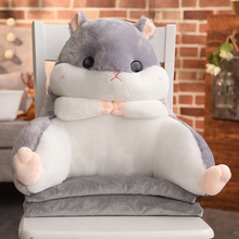 Hamster pillow quilt dual-use cushion office belt waist chair backrest three-in-one air conditioning blanket