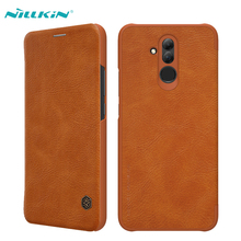 For Huawei Mate 20 Lite Leather Case NILLKIN Luxury Ultra Thin PU Leather Flip Cases Cover For Huawei Mate 20 Lite Qin Series цена