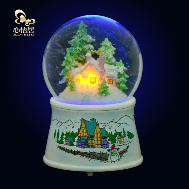 Zm Rotary Luminous Crystal Ball Music Box Music Box Snow Girls Send Girlfriend Children Christmas Gift Ideas Idea Idea Giftidea Box Aliexpress